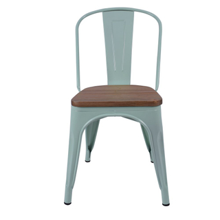 metal cafe chairs Product Iron metal chair classical northern style dinning chair 710107 Grey green