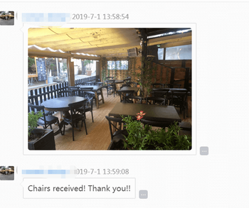 Cross back metal chairs suitable for restaurants