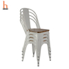 H Jinhui Metal Chairs with Wood Seat