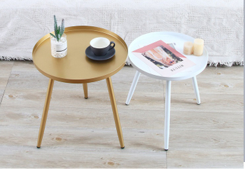 ​H Jinhui Round metal end table/small coffee table nightstand table for bedroom