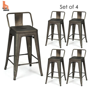 H JINHUI Industrial Metal Counter Height Stool 24INCH 26INCH 28INCH Backrest Backless
