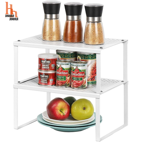 Spice Rack Cabinet Shelf Organizers Set of 2 Kitchen Shelves for Counter Cupboard