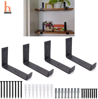 H JINHUI J Bracket for Floating Shelf Metal Wall Floating Shelf Bracket