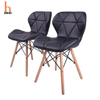 H Jinhui PU Leather Cover Wood Leg Plastic Dining Chair