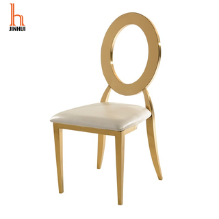 H Jinhui Stainless Steel Cover Luxury Wedding Chair Gold Chairs for Events