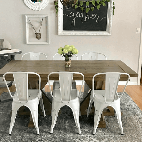 Rustic Metal Dining Chairs For Home