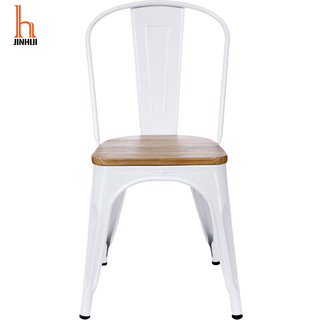 Hjinhui Wooden Seat Metal Dining Chairs