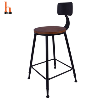 H Jinhui Factory Machinist Stool Industrial Style Bar Stools with Back