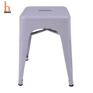 H Jinhui Stackable Small Metal Stools for Trattoria
