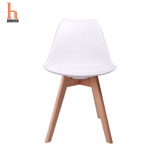 H Jinhui Tulip Dining Chair With Soft Padded And wood Legs